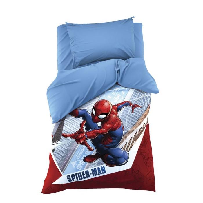 """Постельное бельё 1.5 сп """"Человек-Паук: Супергерой"""" 143х215 см, 150х214 см, 50х70 1 шт, поплин 125 г/м2 11"""