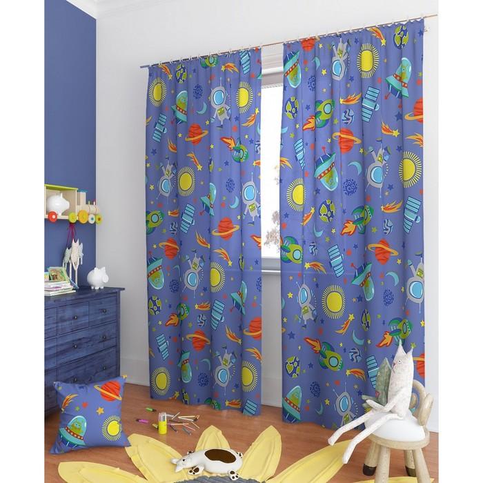 Комплект штор «Буги-К», размер 150 × 260 см - 2 шт