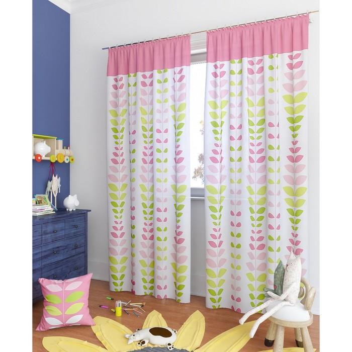 Комплект штор «Вейла-К», размер 150 × 260 см - 2 шт, розовый