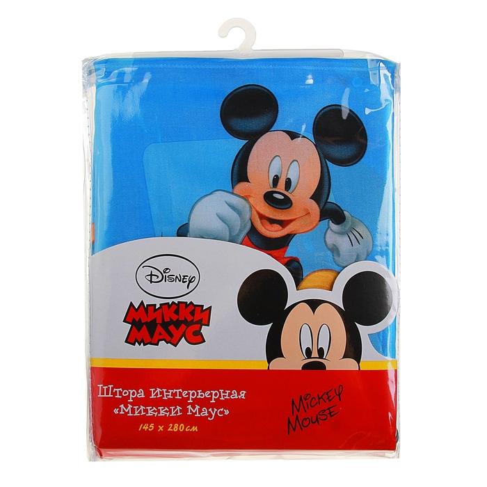 Штора Disney интерьерная 145*280 см, сатин, Микки Маус (64889/16/2) 100% п/э
