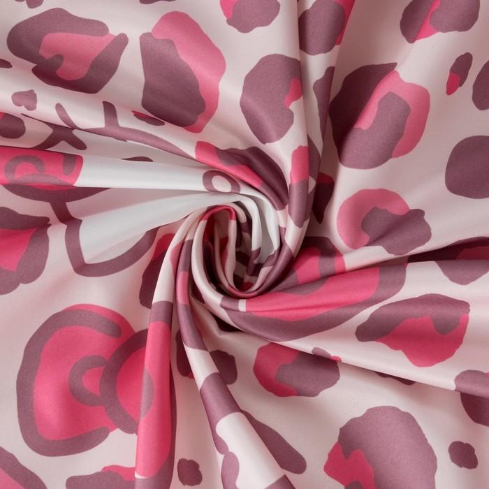 Штора Hello Kitty 150х270-1шт., цвет розовый , сатен