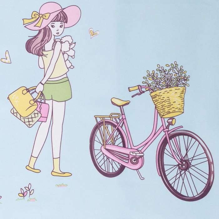 Портьера Крошка Я «Фея» без держателя цвет голубой, 110×260 см, блэкаут, 100% п/э