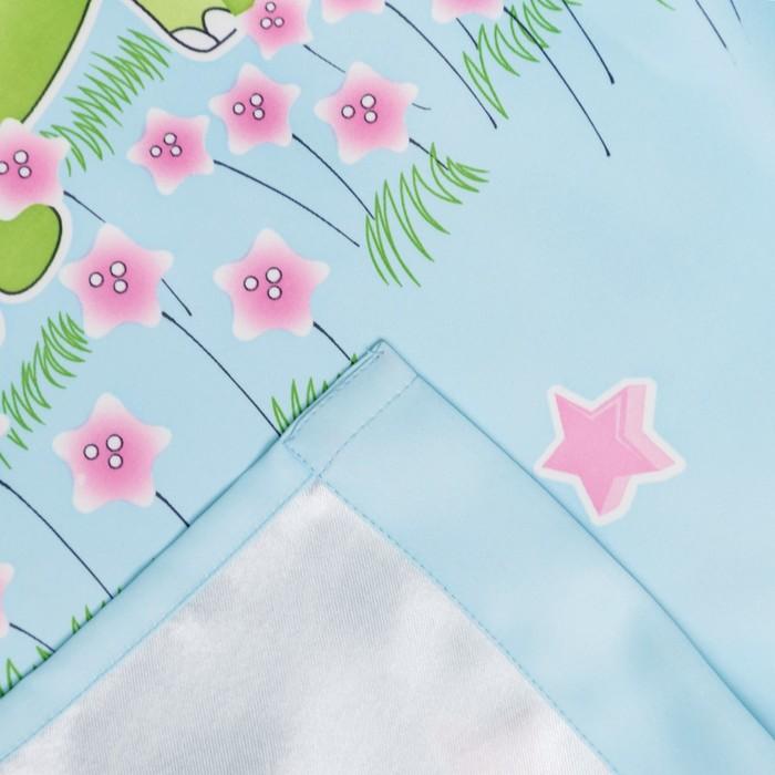 Портьера Крошка Я «Саванна» без держателя цвет голубой, 110×260 см, блэкаут, 100% п/э