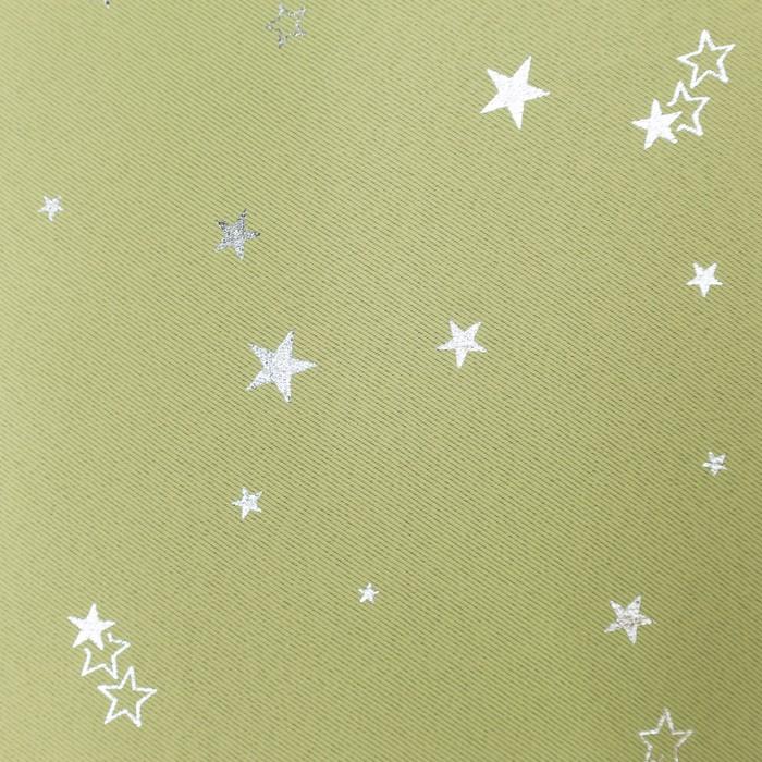 Портьера Крошка Я «Звезды» без держателя цвет фисташковый170×260 см, блэкаут, 100% п/э