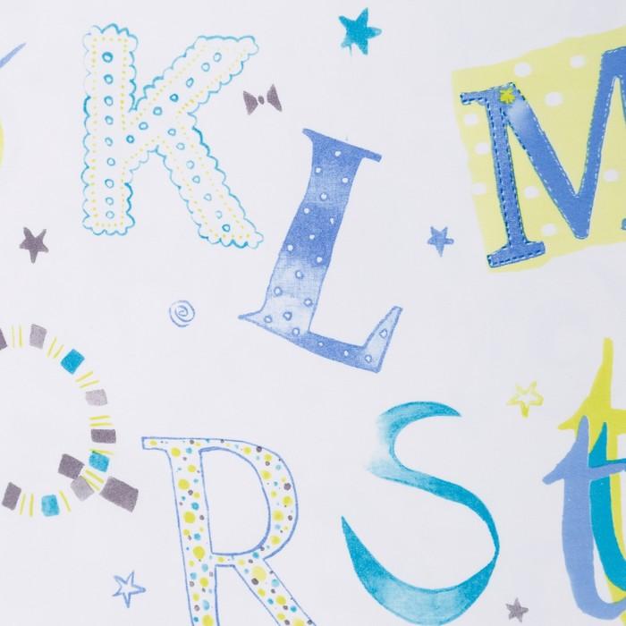 Портьера Крошка Я «Алфавит» без держателя цвет белый, 170×260 см, блэкаут, 100% п/э