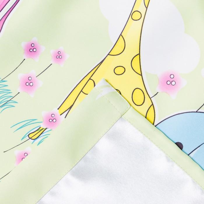 Портьера Крошка Я «Саванна» без держателя цвет фисташковый, 170×260 см, блэкаут, 100% п/э