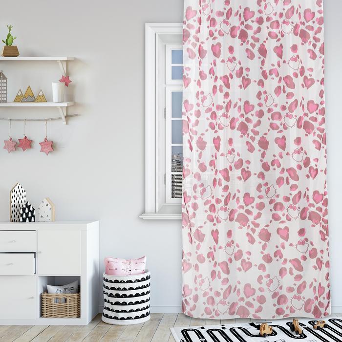 Комплект штор Hello Kitty 150х270 см - 2 шт., цвет розовый, вуаль
