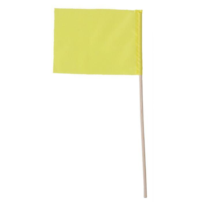 Флажок, длина 40 см, 15х20, цвет жёлтый