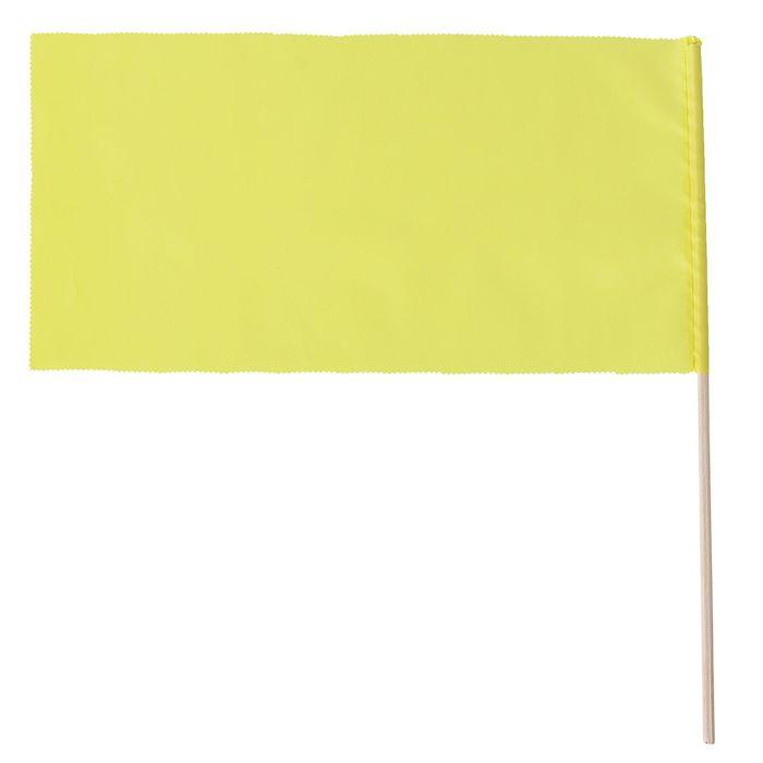 Флажок, длина 40 см, 20х40, цвет жёлтый