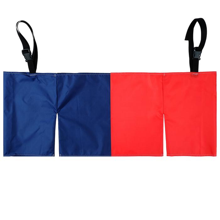 Шорты эстафетные для двоих, три штанины с лямками, цвет микс