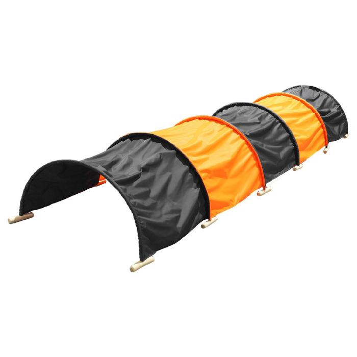 Тоннель для подлезания 5-секционный, цвет чёрный/оранжевый