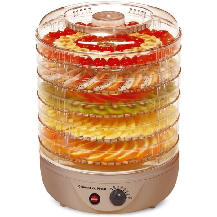 Сушилка для овощей и фруктов Zigmund & Shtain ZFD-401, 500 Вт, 5 секций