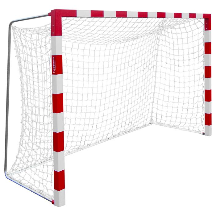 Сетка для гандбола/мини-футбола, нить 2,2 мм, ячейки 100 х 100, цвет белый/синий