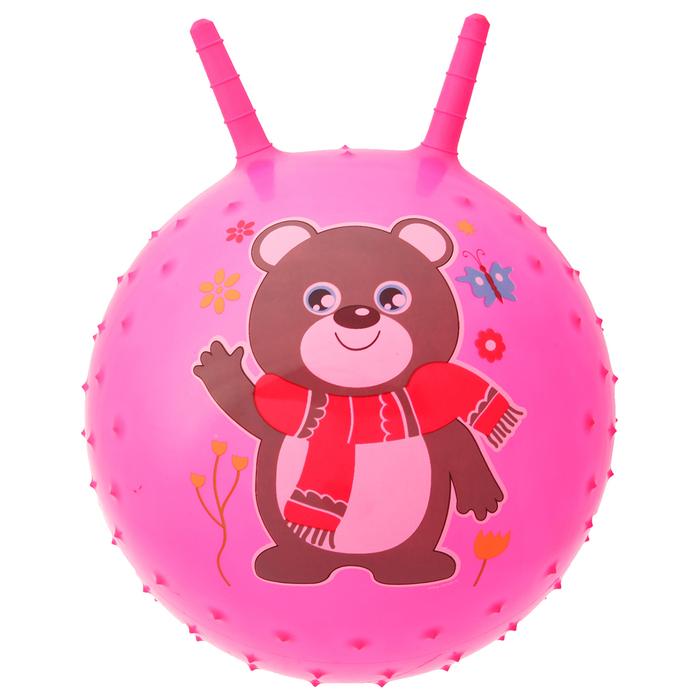 """Мяч прыгун с рожками массажный """"Мишутка"""", d=45 см, 350 г, МИКС"""