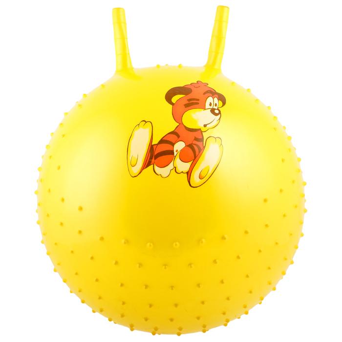 """Мяч-попрыгун с рожками """"Счастливые улыбки"""" массажный, d=45 см, 350 г, МИКС"""