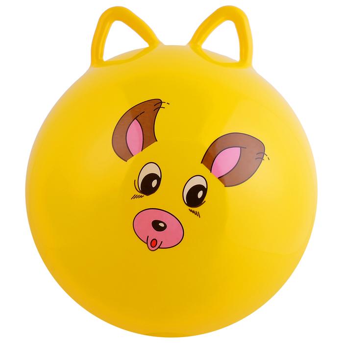 Мяч попрыгун с ушками d=45 см, 380 г, МИКС