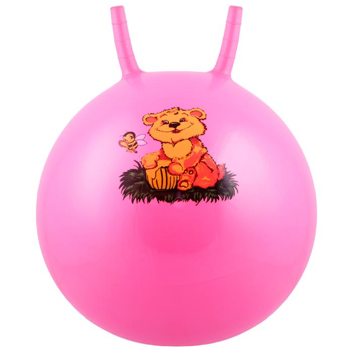 Мяч попрыгун с рожками d=45 см, 350 г, МИКС