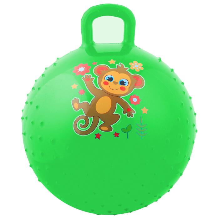 """Мяч прыгун с ручкой массажный """"Обезьянка"""", d=45 см, 350 г, МИКС"""