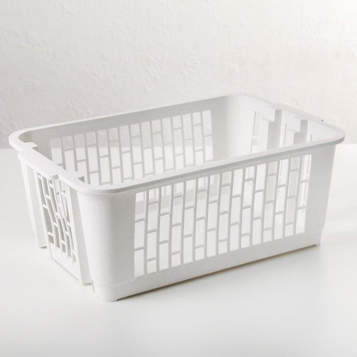 Ящик для овощей 37х26х15 см, цвет МИКС