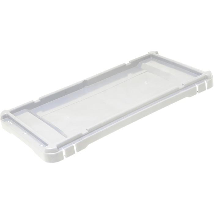 Крышка для ящика  сплошная белая морозостойкая