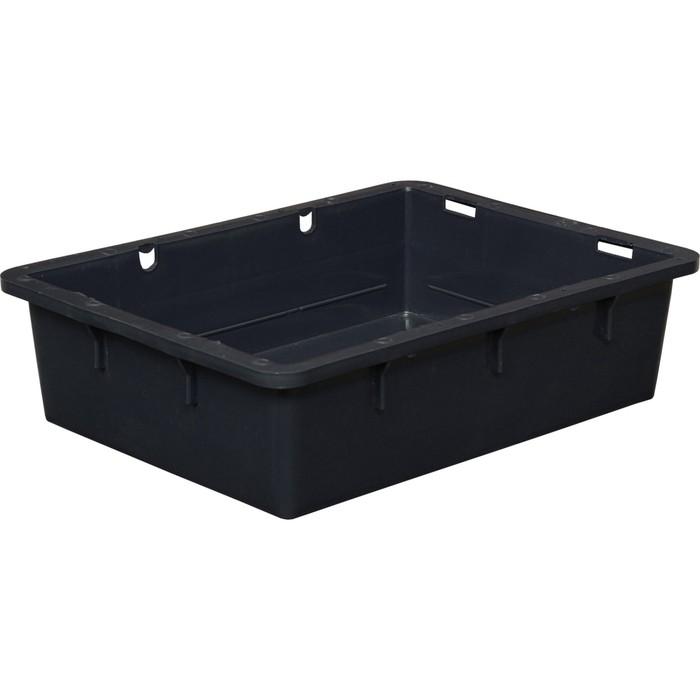 Ящик сырково-творожный (без крышки), конусный, сплошной 532х400х141 черный