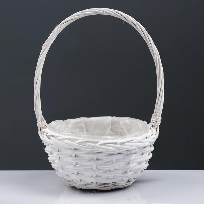 Корзина «Плетёнка», 21×11/33 см, ива