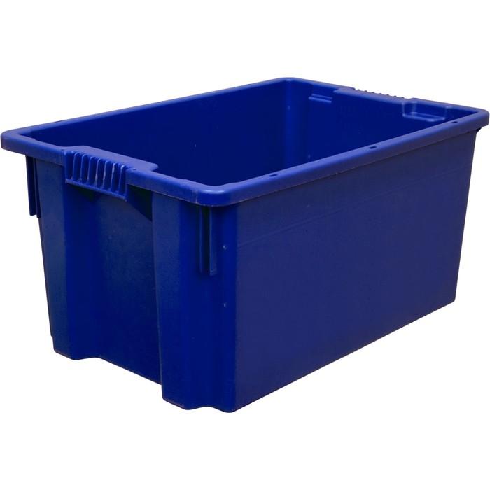 Ящик универсальный, сплошной 600х400х300 синий