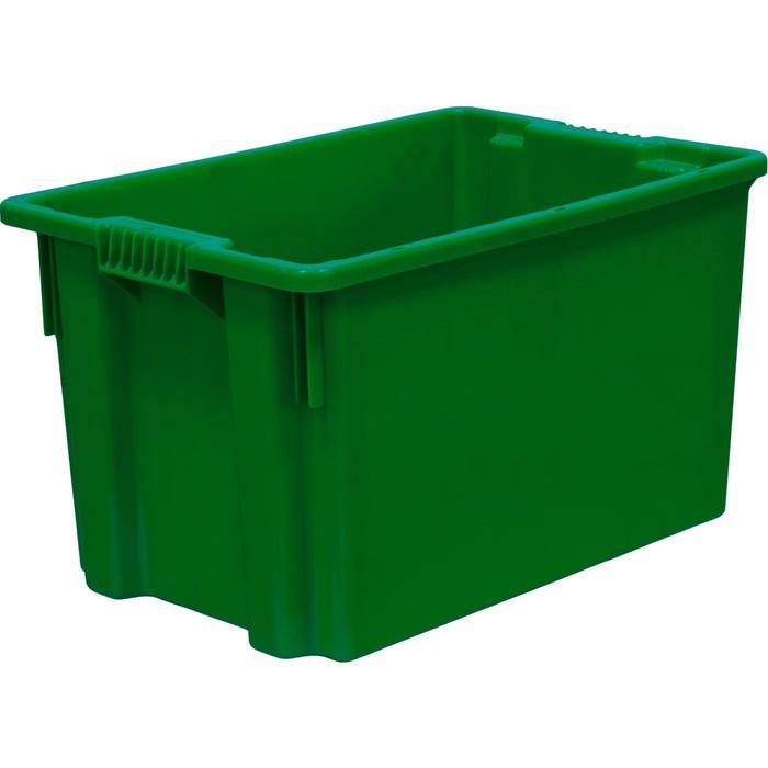 Ящик универсальный, сплошной 600х400х350 зеленый