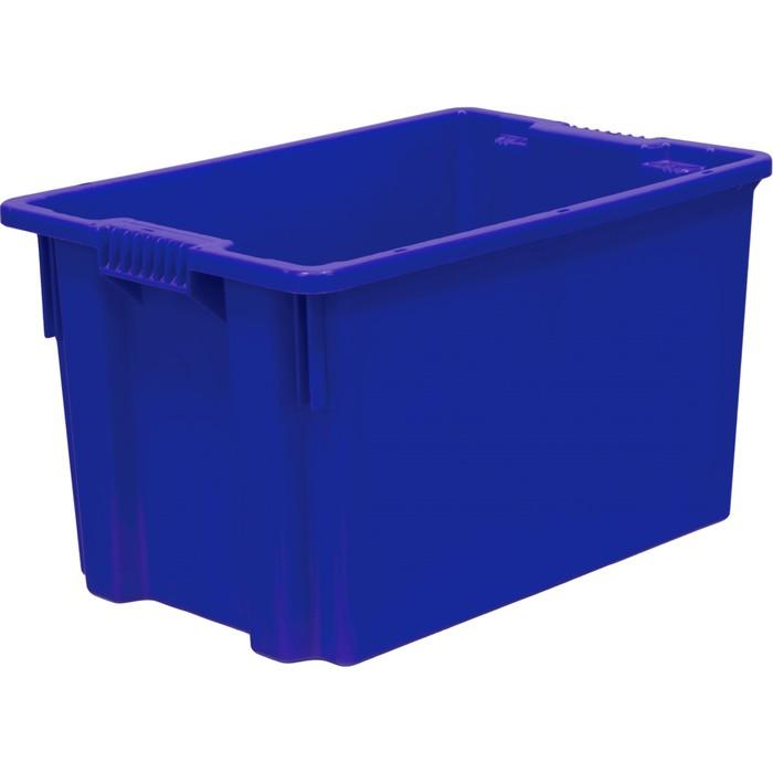 Ящик универсальный, сплошной 600х400х350 синий