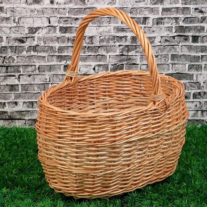 Корзина «Грибная», №1, 32×25×34 см, 8 л, ручное плетение, ива