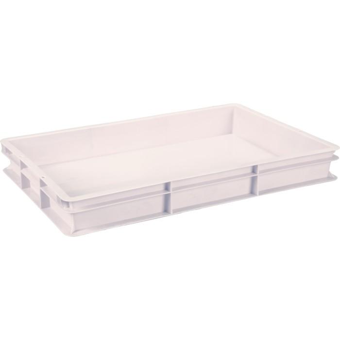 Ящик универсальный, сплошной 600x400x75  белый морозостойкий