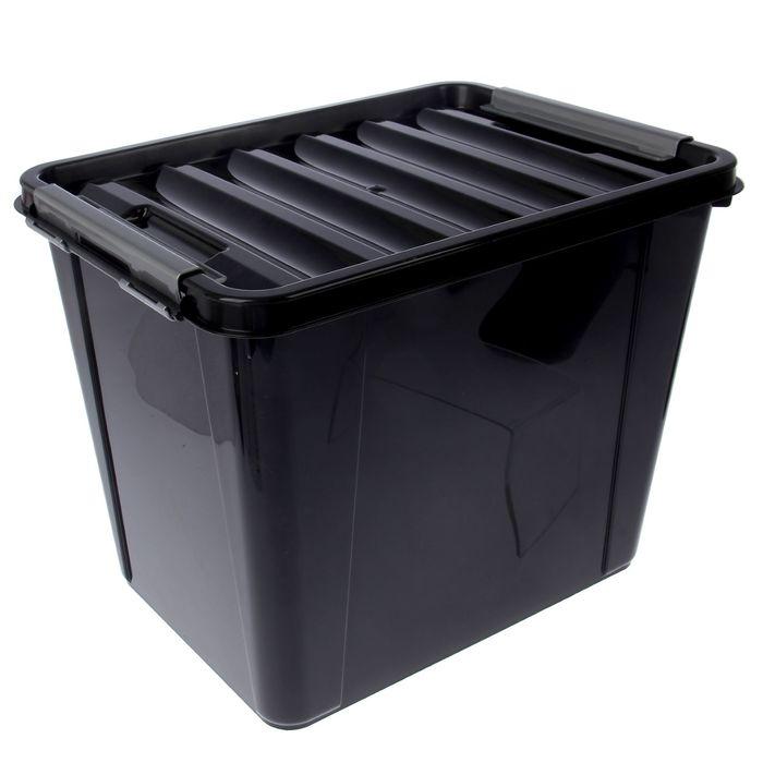Ящик для хранения 25 л Full black, цвет черный