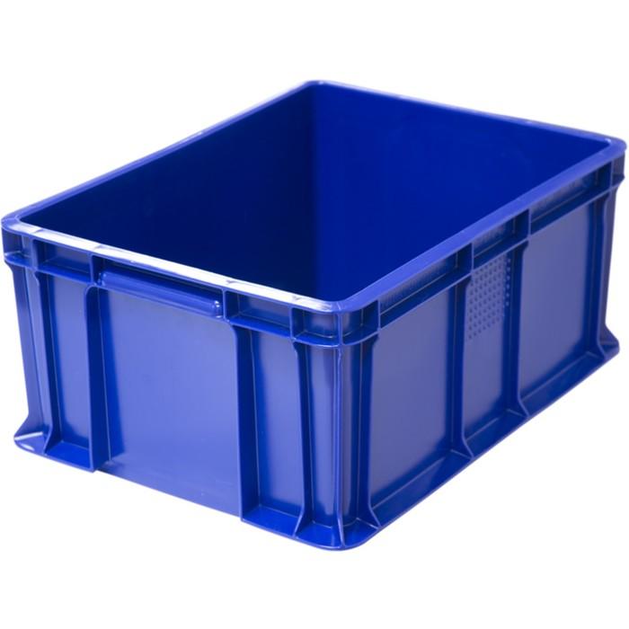 Ящик универсальный, сплошной 400х300х180 синий