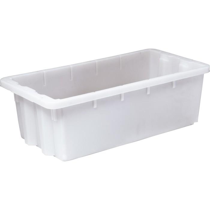 Ящик универсальный (без крышки), конусный, сплошной 600х300х190 белый морозостойкий