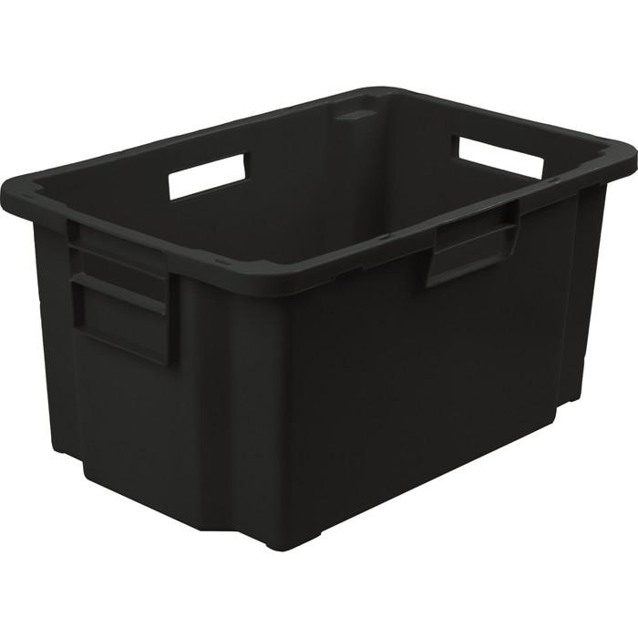 Ящик мясной, конусный, сплошной 600х400х300 черный
