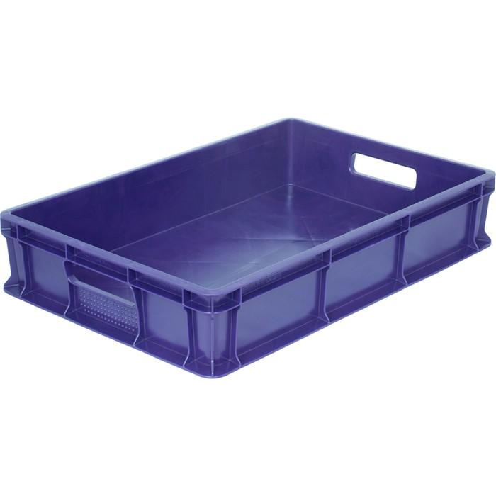 Ящик универсальный, сплошной 600*400*120 синий