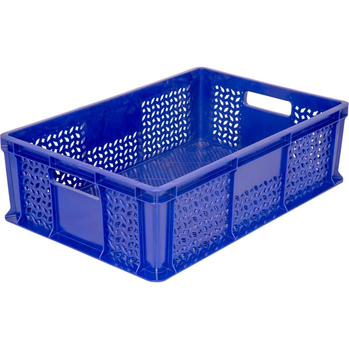 Ящик универсальный, перфорированный 600*400*180 синий