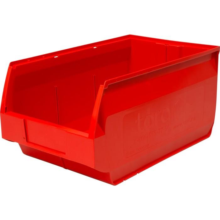 Лоток для склада Venezia, сплошной 500х310х250 красный