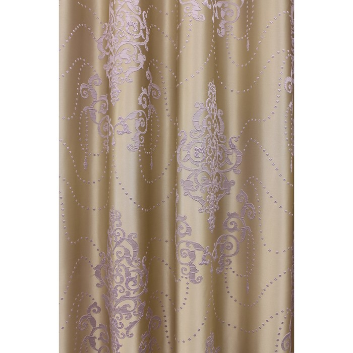 Портьера «Стефани», ш. 200 х в. 280 см, цвет сиреневый