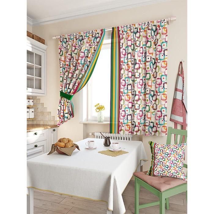 Комплект штор для кухни «Хризон», размер 150 × 180 см - 2 шт