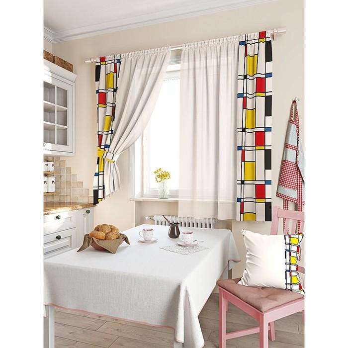 Комплект штор для кухни «Альция», размер 150 × 180 см - 2 шт