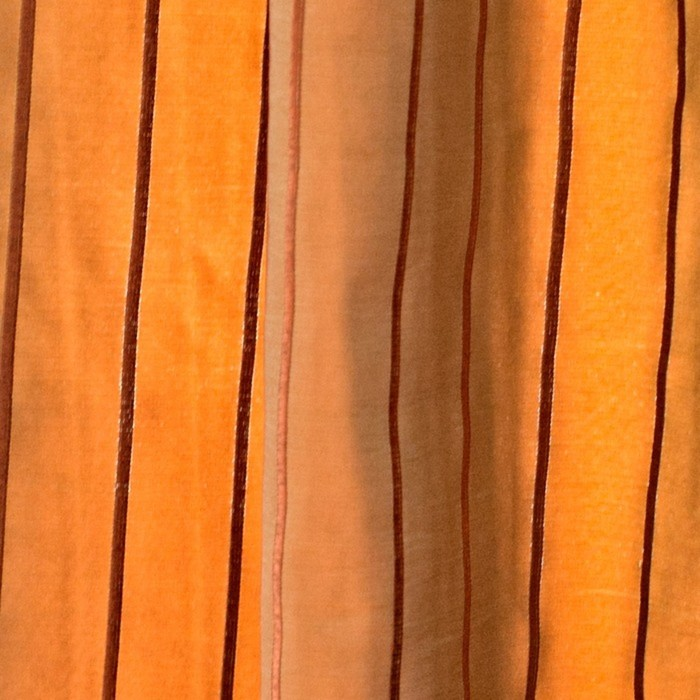Шторы Francesco, размер 160х250 см-2 шт., цвет оранжевый, шторная лента