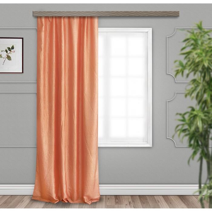 Комплект штор портьерных «Тергалет» 140х260 см — 2 шт, цвет кофе с молоком