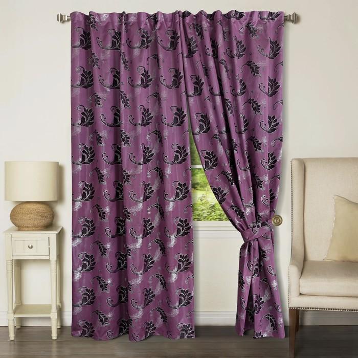 Комплект штор, размер 150х265 см-2 шт., цвет фиолетовый