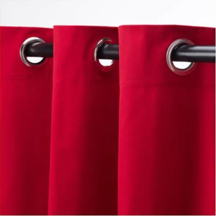 Гардины МЕРЕТЕ, размер 145х300 см, цвет красный