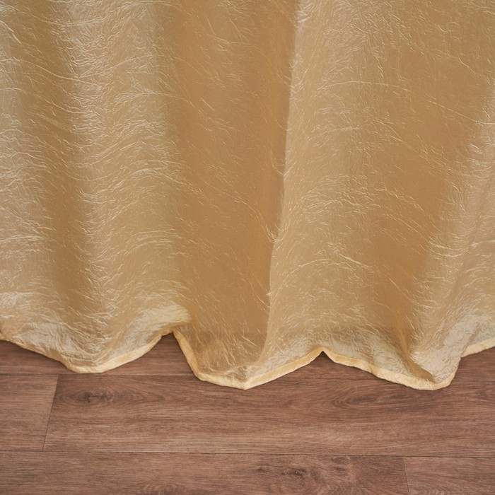 Комплект штор портьерных Тергалет 140х260 см-2 шт, тёмный шампань, пэ 100%