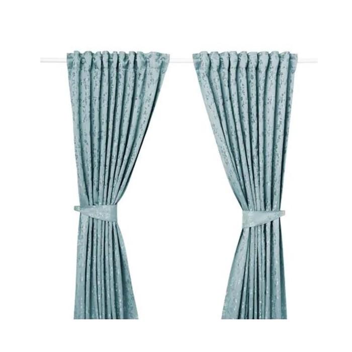 Гардины с прихватом ЛИЗАБРИТТ, размер 145х300 см, цвет синий