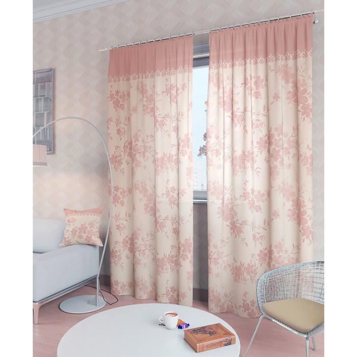 Комплект штор «Вивида-К», размер 150 × 260 см - 2 шт, розовый