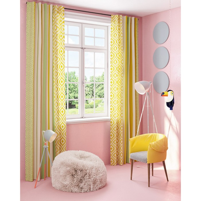 Комплект штор «Глифада», размер 150 × 280 см - 2 шт