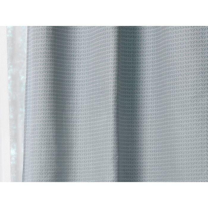 Штора на шторной ленте 200x280 см синяя